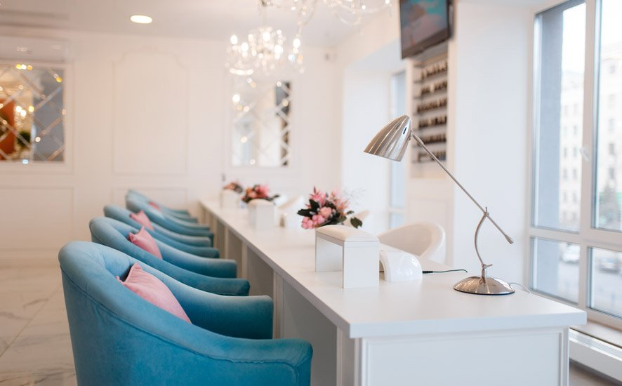 layout salão de beleza
