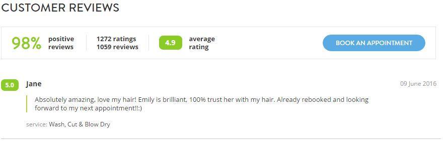 hair salon feedback form