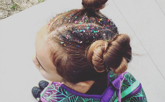 colorful child hair