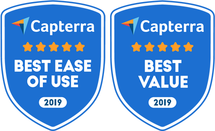 Capterra Best ease of use and best value