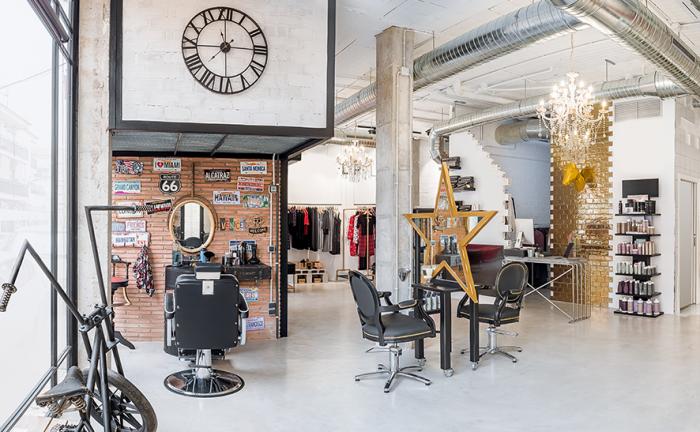 fashionable salon