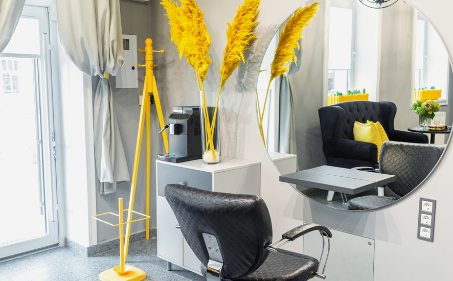 Modern interior design ideas for small hair salons
